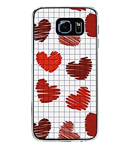Hearts 2D Hard Polycarbonate Designer Back Case Cover for Samsung Galaxy S6 G920I :: Samsung Galaxy G9200 G9208 G9208/SS G9209 G920A G920F G920FD G920S G920T
