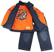 Sweet & Soft Infant Boys 6-24M Navy Music World Vest with Tee And Denim Pants