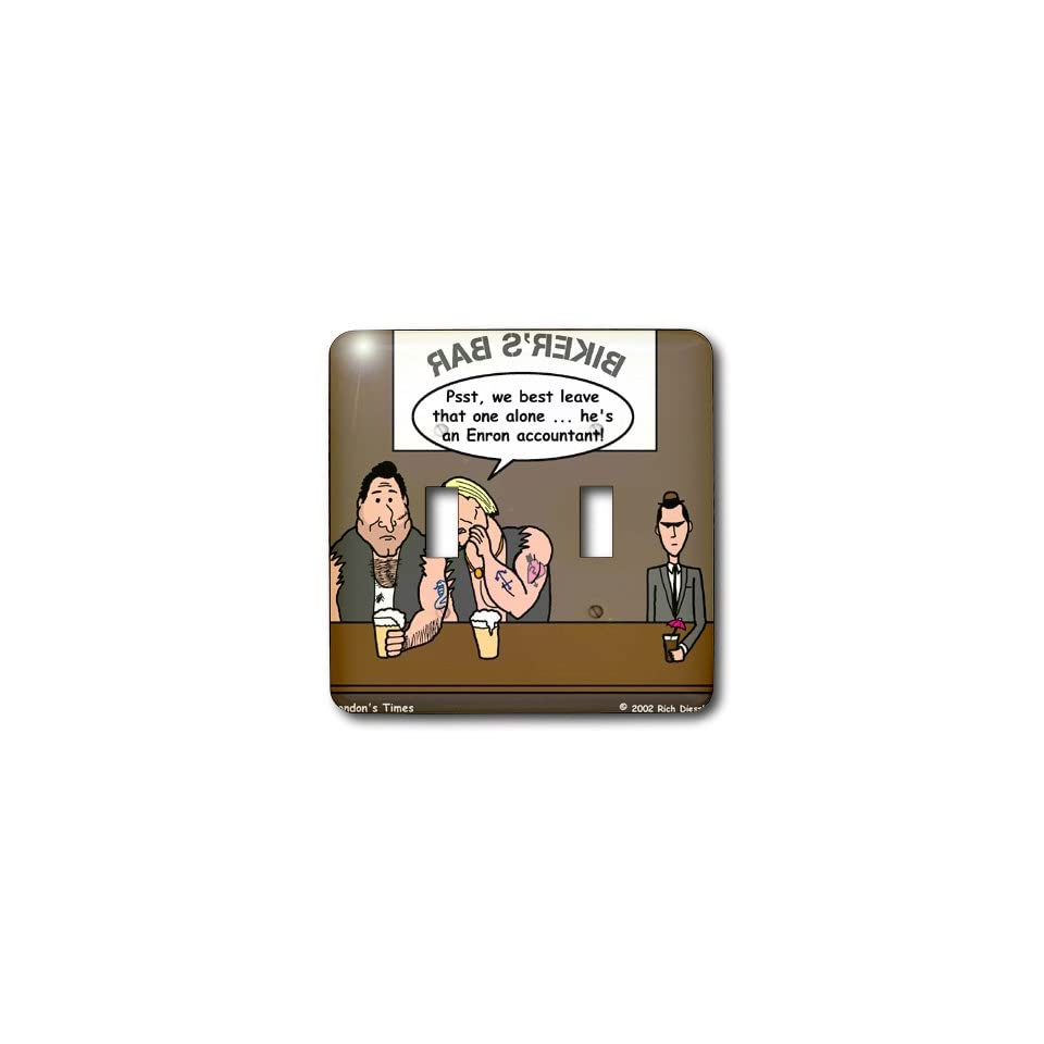 lsp_3062_2 Rich Diesslins Funny Society Cartoons   Enron Accountant at Biker Bar   Light Switch Covers   double toggle switch   Multi Switch Plates