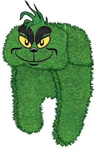 Dr. Seuss Grinch Plush Big Face Adult Trapper Hat (Grinch Hat)
