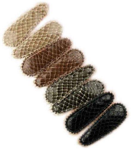 8pcs Snake Skin Barrettes, 2