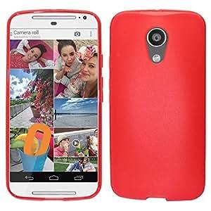 Zizo TPU Cover for Motorola Moto G 2nd Generation - Retail Packaging - Red