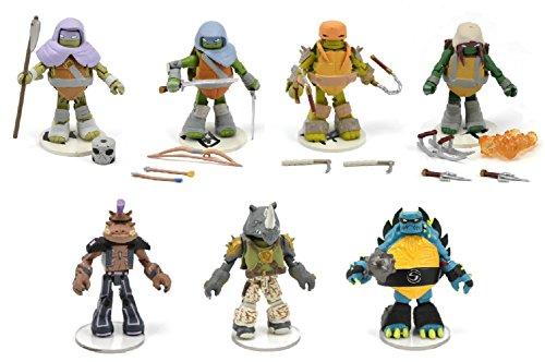 """Teenage Mutant Ninja Turtles Nickelodeon Minimates 2"""" Figures Series 3 Set of 7 Mini Figures (Opened to Identify)"""