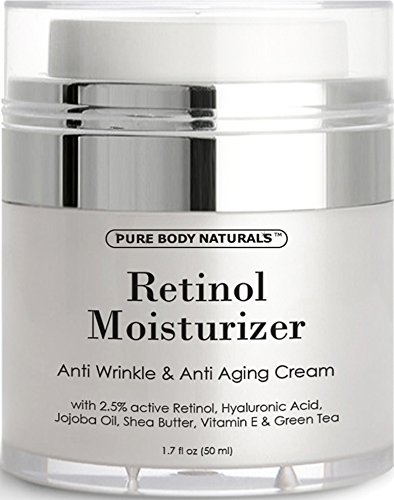 Retinol Cream Moisturizer for Face  2.5% retinol,