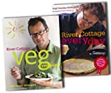 Hugh Fearnley-Whittingstall River Cottage Every Day Collection Hugh Fearnley Whittingstall 2 CookBooks Set Pack RRP: £50.00 (River Cottage Veg Every Day!, RIVER COTTAGE EVERY DAY)