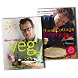 River Cottage Every Day Collection Hugh Fearnley Whittingstall 2 CookBooks Set Pack RRP: �50.00 (River Cottage Veg Every Day!, RIVER COTTAGE EVERY DAY)by Hugh Fearnley...