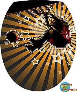 Sticker Autocollant Abattant WC Basket 26x34cm réf 0122