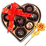Valentine Chocholik Premium Gifts - Love Majestic Choco-treats With 24k Gold Plated Rose