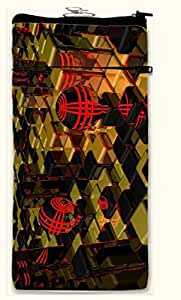 Active Elements attractive Multipurpose both side printed, waterproof Smart mobile pouch Design No-PUC-12154-L Comfortably Fit for large Phones Size up to Samsung Note-2/3//4, HTC M7/8/ Sony L36/39 etc