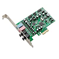 Syba 7.1 Surround Sound PCIe Sound Card, S/PDIF In & Out CM8828 Chipset Sound Cards SD-PEX63081 by Syba