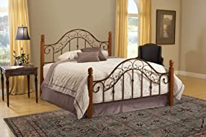 Hillsdale Furniture 310BFR San Marco Bed Set with Rails, Full, Brown Copper