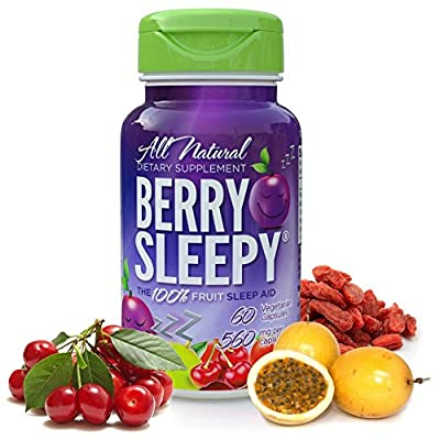 (100% Natural Melatonin) - Berry Sleepy - All Natural Melatonin From The 100% Fruit Sleep Aid | Fall Asleep Fast & Wake Refreshed | Non-Habit Forming Sleeping Pills. 60 Count Bottle
