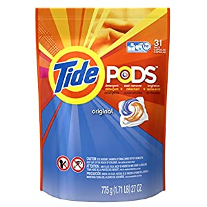 Tide Pods Laundry Detergent Packs Tub, Original, 31 Count