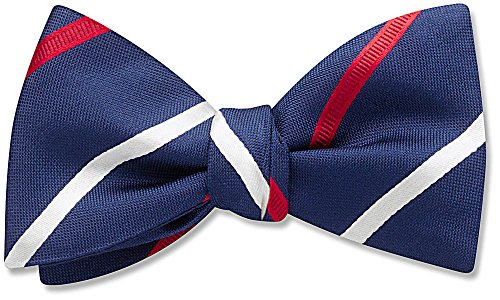 Admiralty Blue Striped, Men's Bow Tie, by Beau Ties Ltd of Vermont