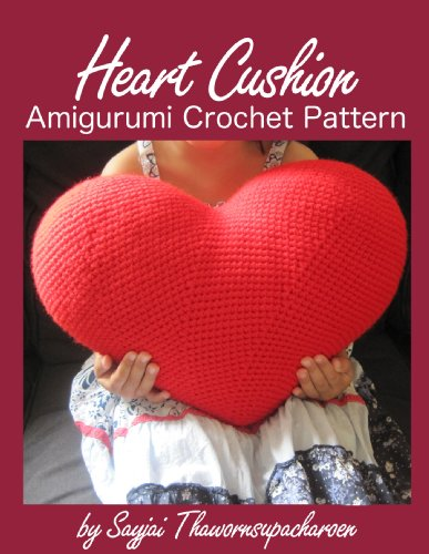 Heart Cushion Amigurumi Crochet Pattern PDF