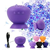 USTOP™Purple Bluetooth Speaker Wireless and Waterproof Portable Silicon Cover Pair with Bluetooth Devices Around Apple Iphone Ipad Android Laptop and Other Smartphones. Indoors and Outdoor Car and Boat. Latest Mushroom Silicon Design