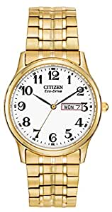 Citizen Men's Eco-Drive Flexible Band Gold-Tone Watch #BM8452-99A