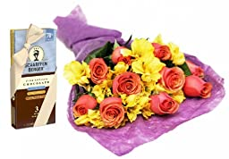 Lemon Merengue and Roses and Scharffen Berger Chocolate - Without Vase