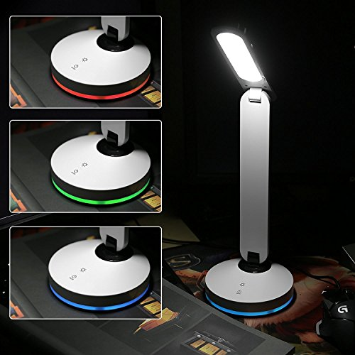 AUGYMER Led Desk Lamp Eye-caringTable Lights, 7 Color Changing Touch Control Cordless Table Lamp For Kids Bedroom Reading (Desk Lamps For Kids compare prices)