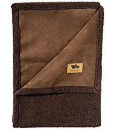 West Paw Design Big Sky Faux Suede/Silky Soft Pet Throw Blanket, Coffee Bean, Small