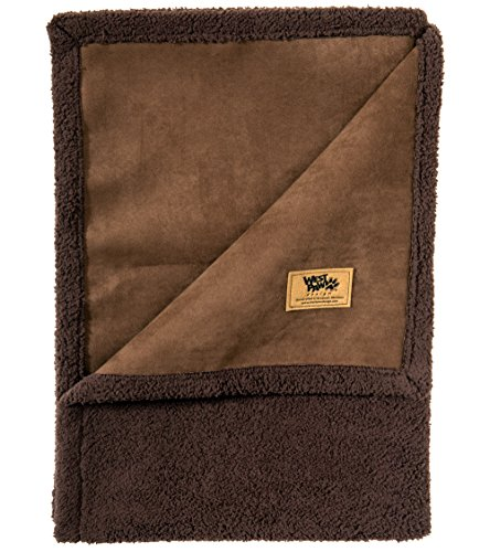 West Paw Design Big Sky Faux Suede/Silky Soft Pet Throw Blanket, Coffee Bean, Large