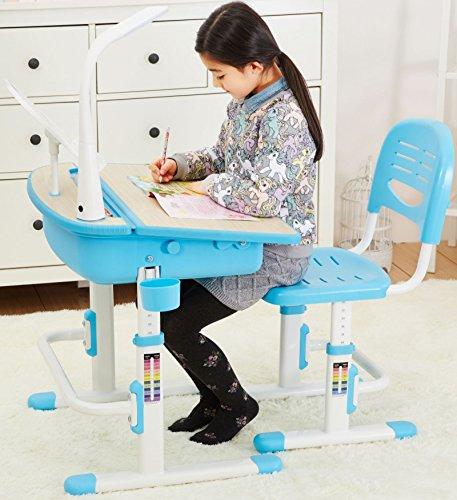 Scrivania con sedia ergonomica per i bambini