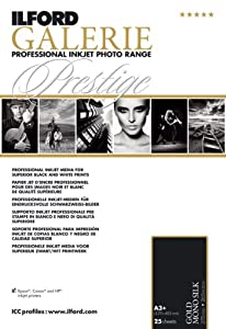 Ilford 2002450 13 X 19 Inches GALERIE Prestige Gold Mono Silk, 25 Sheet Pack (Black)
