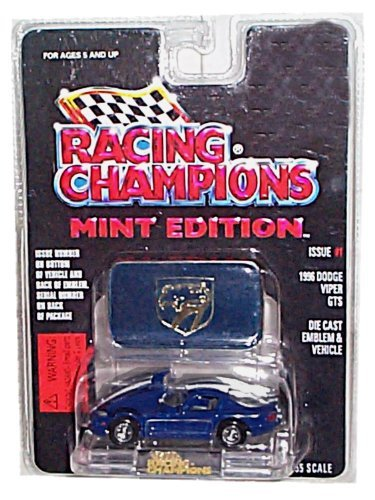 Racing Champions - Mint Edition - 1996 Dodge Viper GTS (Dark Blue w/White Stripes) - Issue #1 - 1