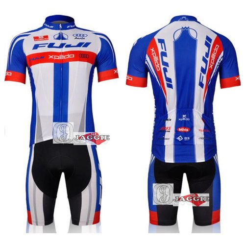 FUJI Racing Team Cycling Wear Clothes Short Sleeve Bicycle Bike Riding Short Jerseys + Pants Size L