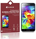 SAMAR� - Supreme Quality New Samsung Galaxy S5 Crystal Clear Screen Protectors (Released 2014) 6 in Pack - Includes Microfiber Cleaning Cloth