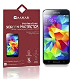 SAMAR® - Supreme Quality New Samsung Galaxy S5 Crystal Clear Screen Protectors (Released 2014) 6 in Pack - Includes Microfiber Cleaning Cloth