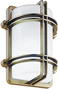 Belmont Guard Wall Sconce Finish: Brass, Bulb Type: Incandescent