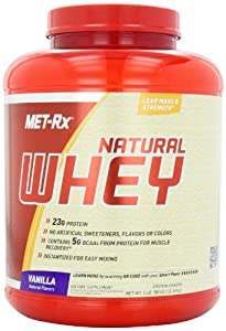 MET-Rx 100% Natural Whey, Vanilla, 5 Pound