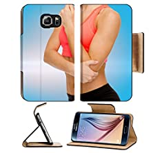 buy Msd Samsung Galaxy S6 Flip Pu Leather Wallet Case Healthcare Fitness And Medicine Concept Sporty Woman With Pain In Elbow Image 34800890 Pro