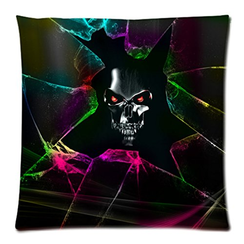 """Cool Personalized Sparkle Cracks Horror Skull Custom Zippered Pillow Case 20""""X20""""(Two Sides) front-965784"""