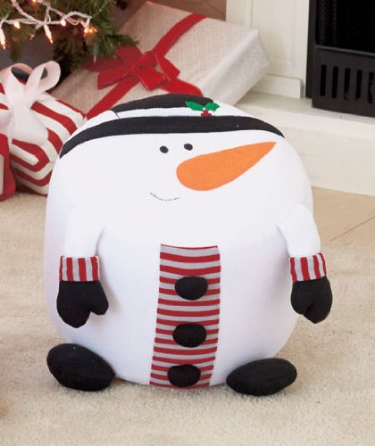 Snowman Inflatable Holiday Stool With Pump - 1