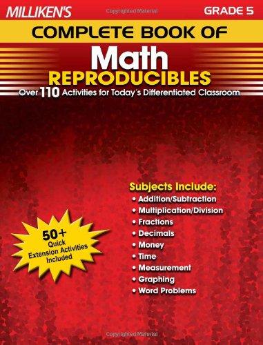 Milliken's Complete Book of Math Reproducibles - Grade 5 (Milliken Publishing Company compare prices)