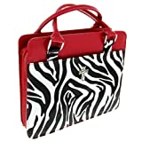 Zebra Print Purse-Style Bible / Book Cover w/Cross