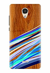 Noise Designer Printed Case / Cover for Micromax Canvas Unite 4 Q427 / Wood / Wooden Multi Stripes Print Design