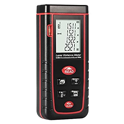 Portable Laser Distance Meter, Handheld Measure Instrument with m/in/ft,Rangefinder Finder,Layout Tools,Line Lasers with 2*AAA Rechargeable Batteries(Included)