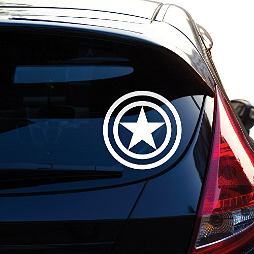 Captain America Decal Sticker for Car Window, Laptop, Motorcycle, Walls, Mirror and More. # 459 (4
