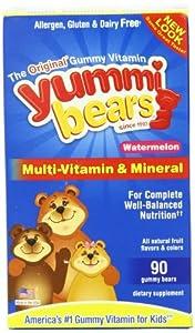 Yummi Bears Watermelon Multi-Vitamin and Mineral 90 Bears