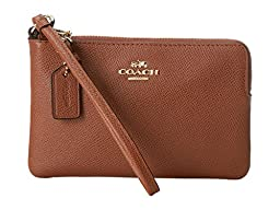 Coach Embossed Small L-zip Wristlet in Leather 52392