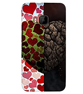 PrintVisa Romantic Love Heart Sort Hard 3D Hard Polycarbonate Designer Back Case Cover for HTC ONE M9+