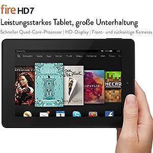 Fire HD 7, 17,2 cm (7 Zoll), HD-Display, WLAN, 8 GB (Schwarz) - mit Spezialangeboten