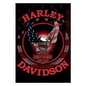 HD Harley-Davidson Patriotic Eagle Estate Flag