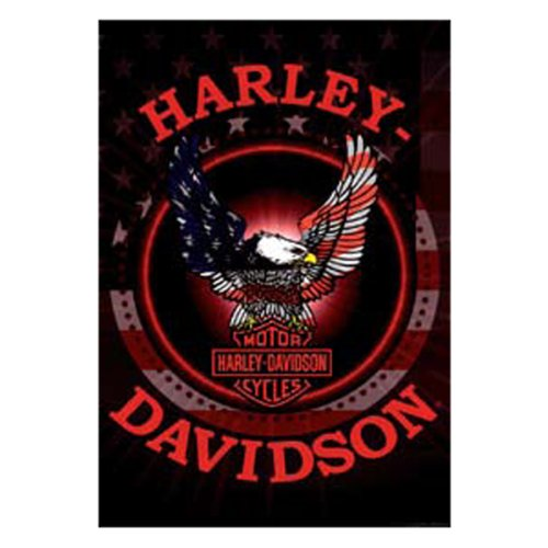 HD Harley-Davidson Patriotic Eagle Estate Flag