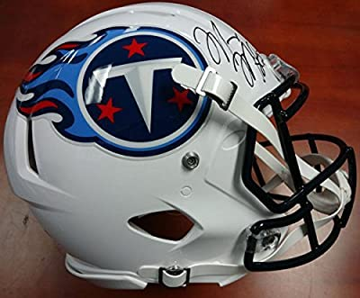 Marcus Mariota Autographed Tennessee Titans Full Size Authentic Speed Helmet MM Holo