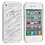 Clear Zebra TPU Rubber Skin Case Cover for Apple iPhone 4 4G 4S