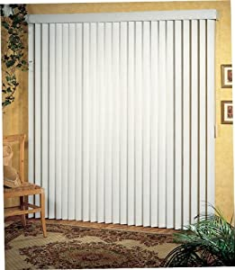 Achim Home Furnishings 60 by 64-Inch Vertical Blinds, White